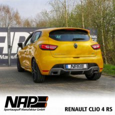 Clio 4 RS Exhaust with Automatic Valve ECE